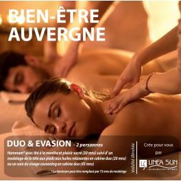 """BOX BIEN ÊTRE AUVERGNE """"Duo"""" (2 pers./1h)"""